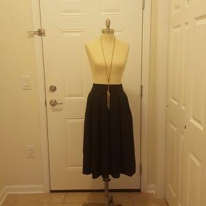 Black Mid-length skirt